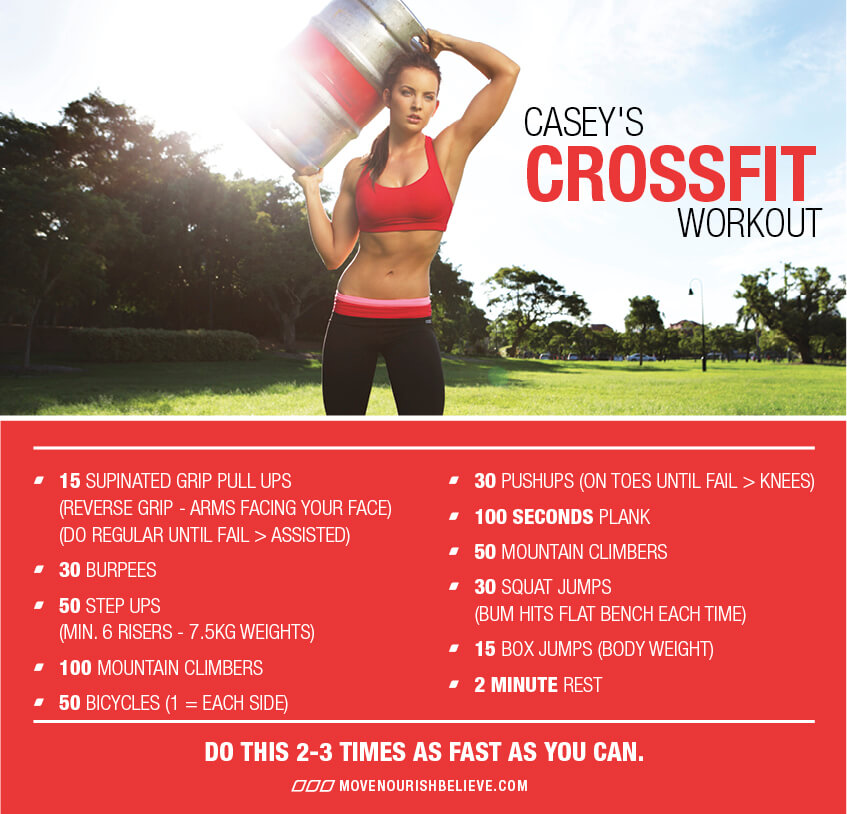 Crossfit Workout Routines: Casey's CrossFit Workout: Our Active Living Advocate