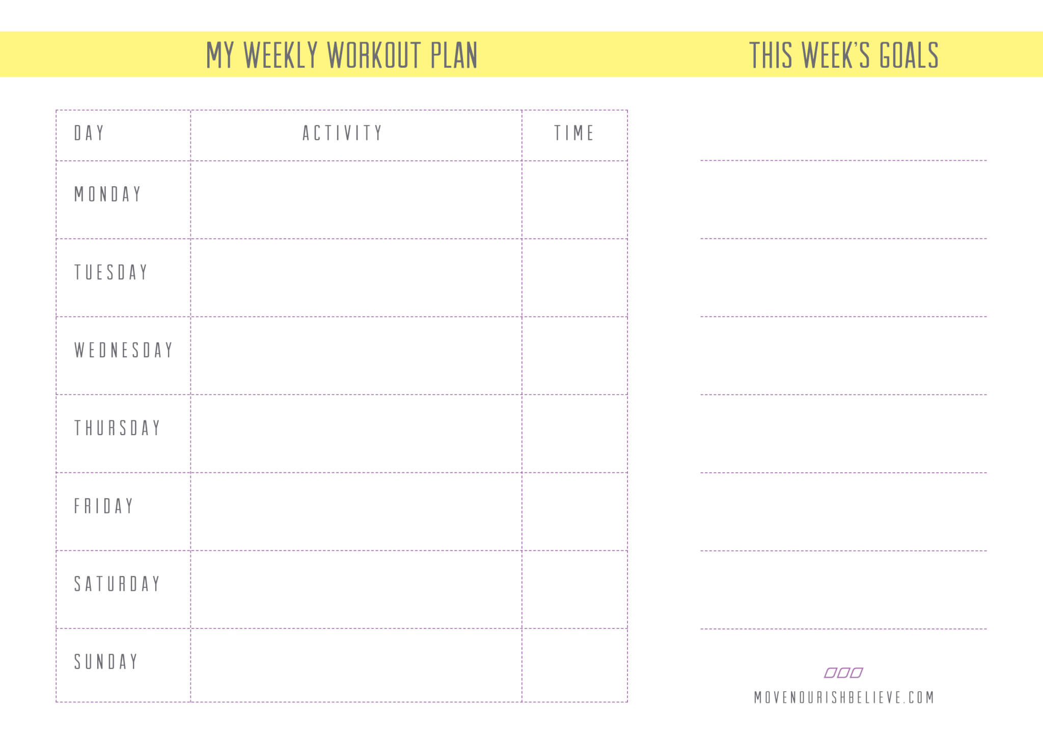 Weekly Exercise Plan For Women | www.galleryhip.com - The Hippest Pics