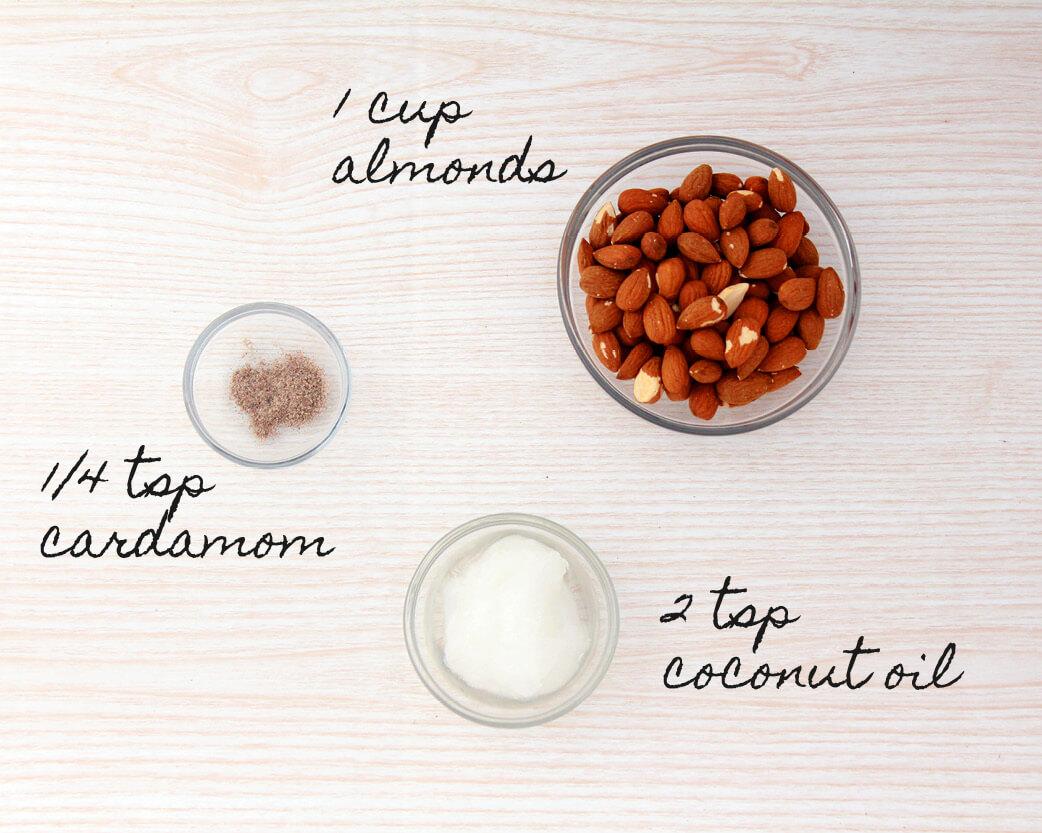 Coconut Cardamom Almond Nut Butter Recipe