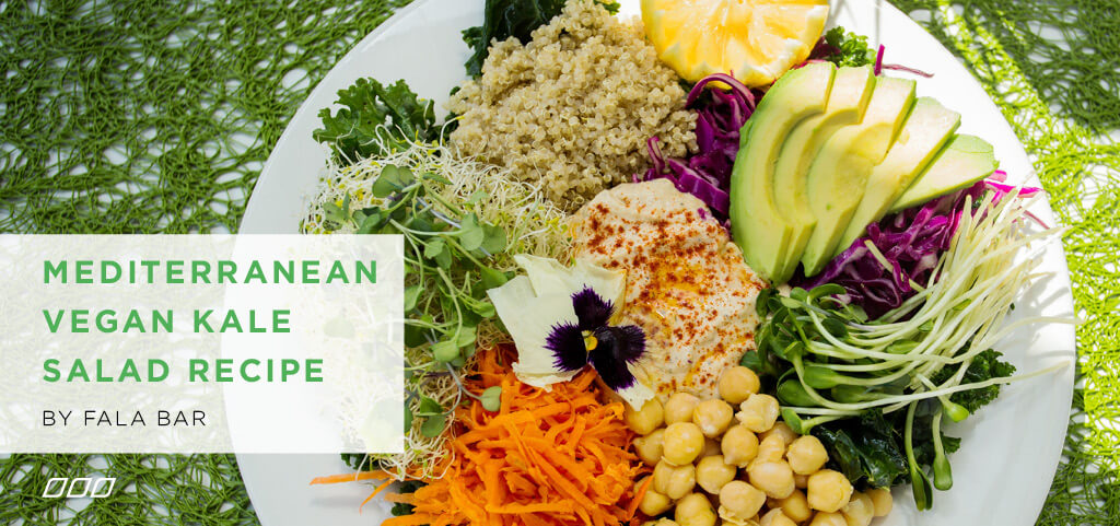 Mediterranean Vegan Kale Salad by Fala Bar