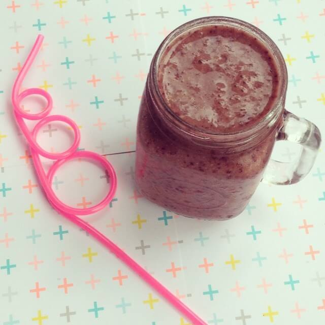 choc berry smoothie