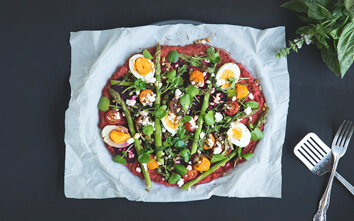 Just beet it! Try This Beetroot Crust Pizza with Heirloom Tomatoes
