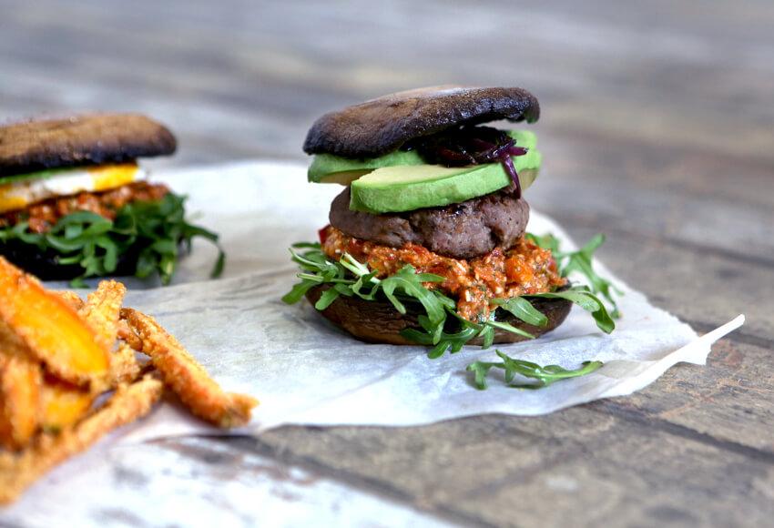 Portobello Mushroom Gluten Free Burger - Move Nourish Believe