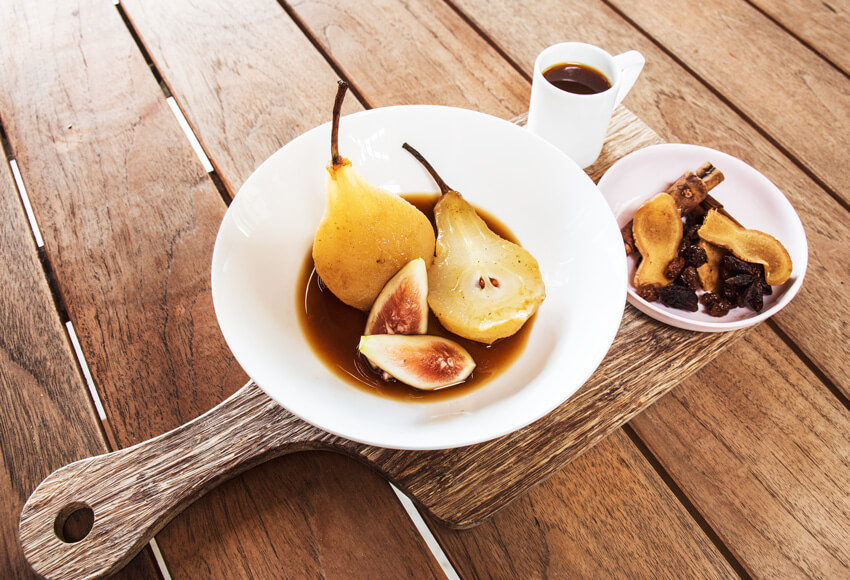 Perfect Poached Pears Recipe — Dishmaps