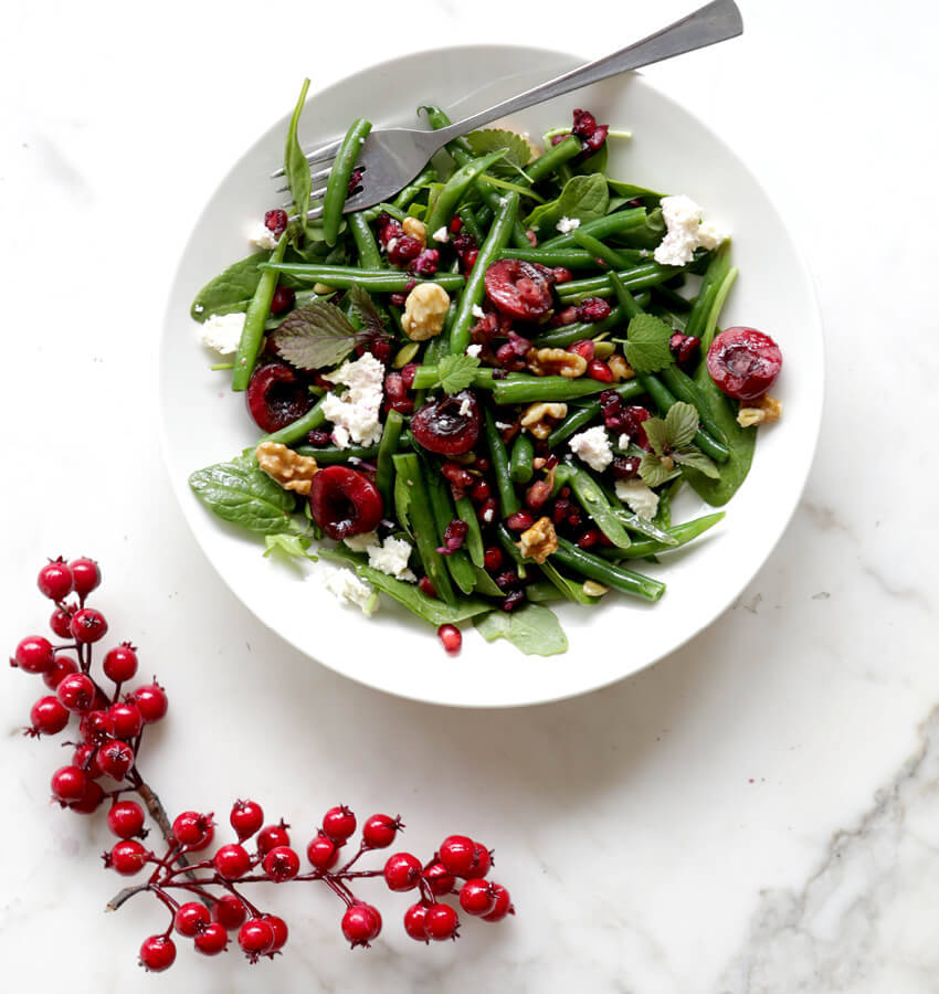 Christmas Cherry and Green Bean Salad - Move Nourish Believe
