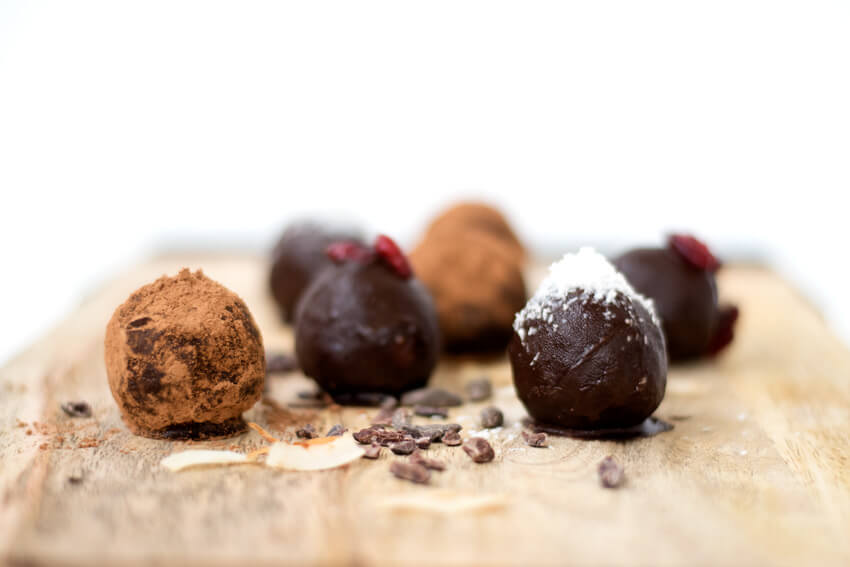 Double Chocolate Fudge Bliss Balls