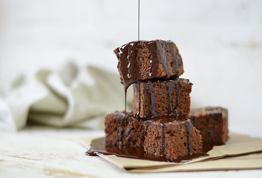Gluten-Free Cacao and Banana Brownies