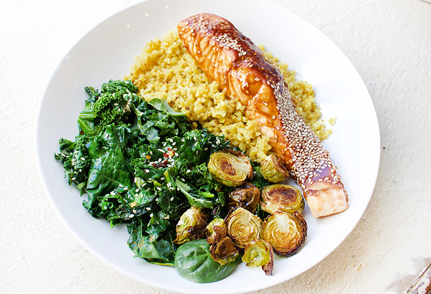 Gut Healing Salmon & Cauliflower Rice Bowl