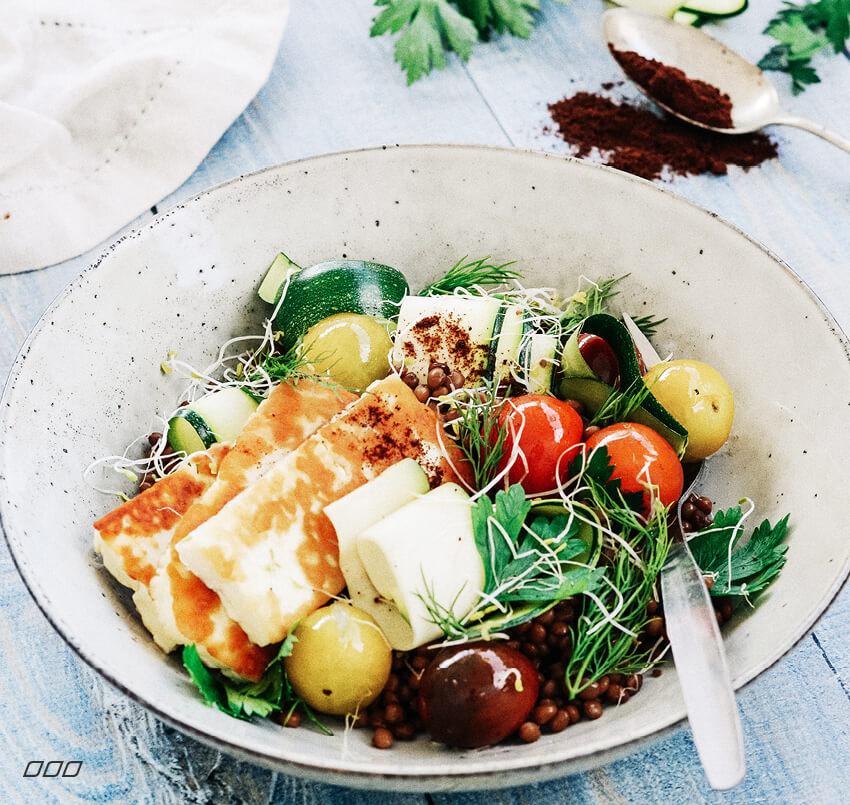 Halloumi & Lentil Salad