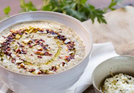 Nourish, Comfort & Warm: Roast Broccoli & Almond Soup