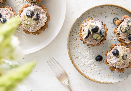 Raw Blueberry & Hemp Tarts