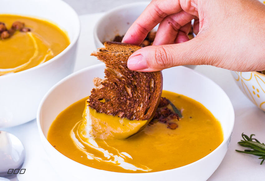 Celebrate World Vegetarian Day with this Turmeric Pumpkin Soup