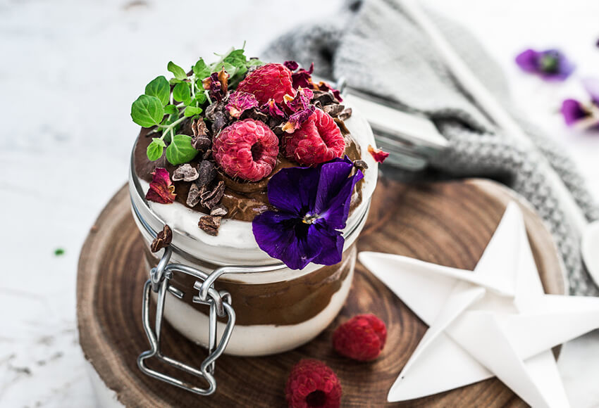 Cacao and Peppermint Trifle