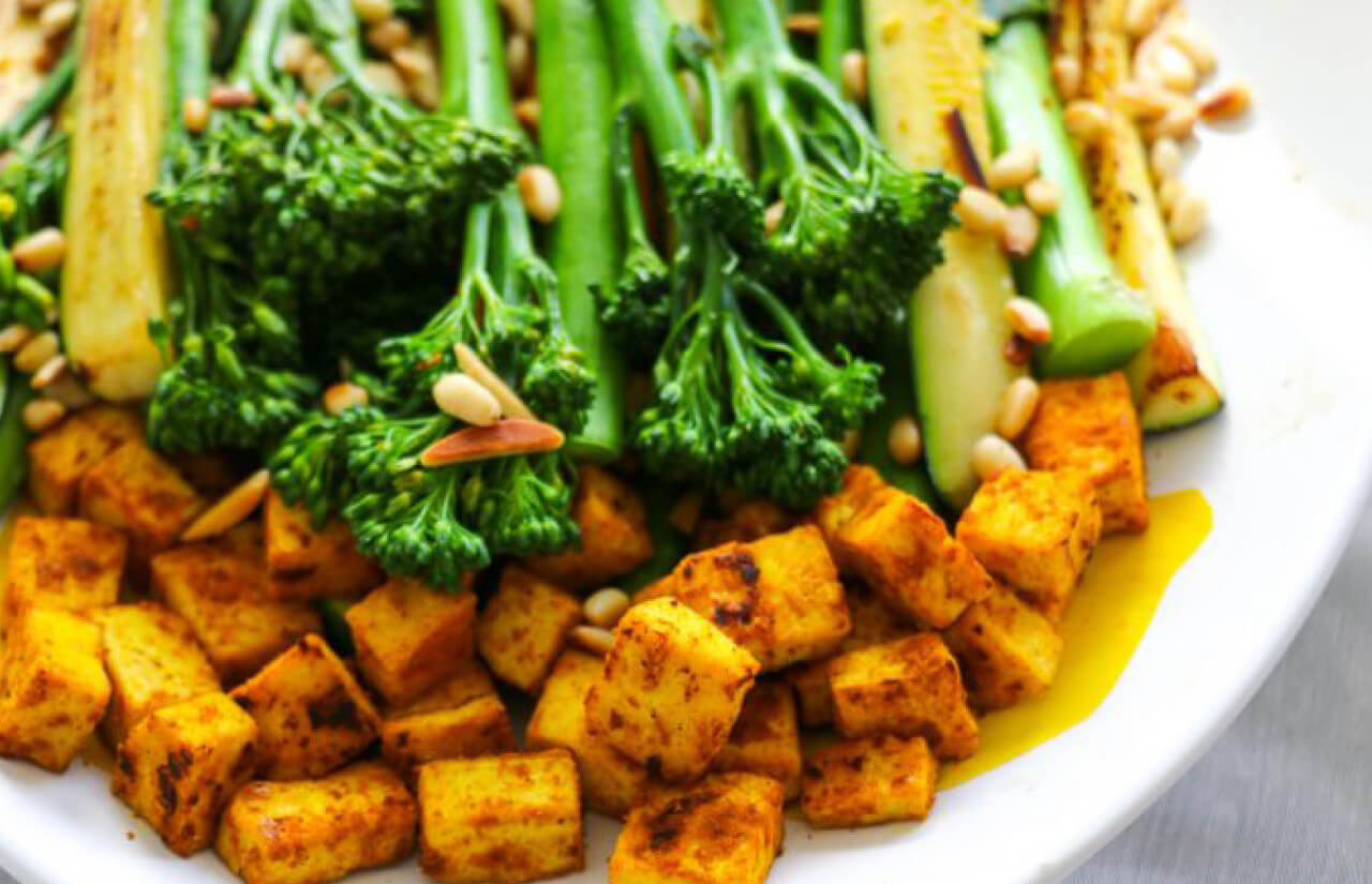 Jazz Up Your Greens! Broccoli, Turmeric and Tofu Salad