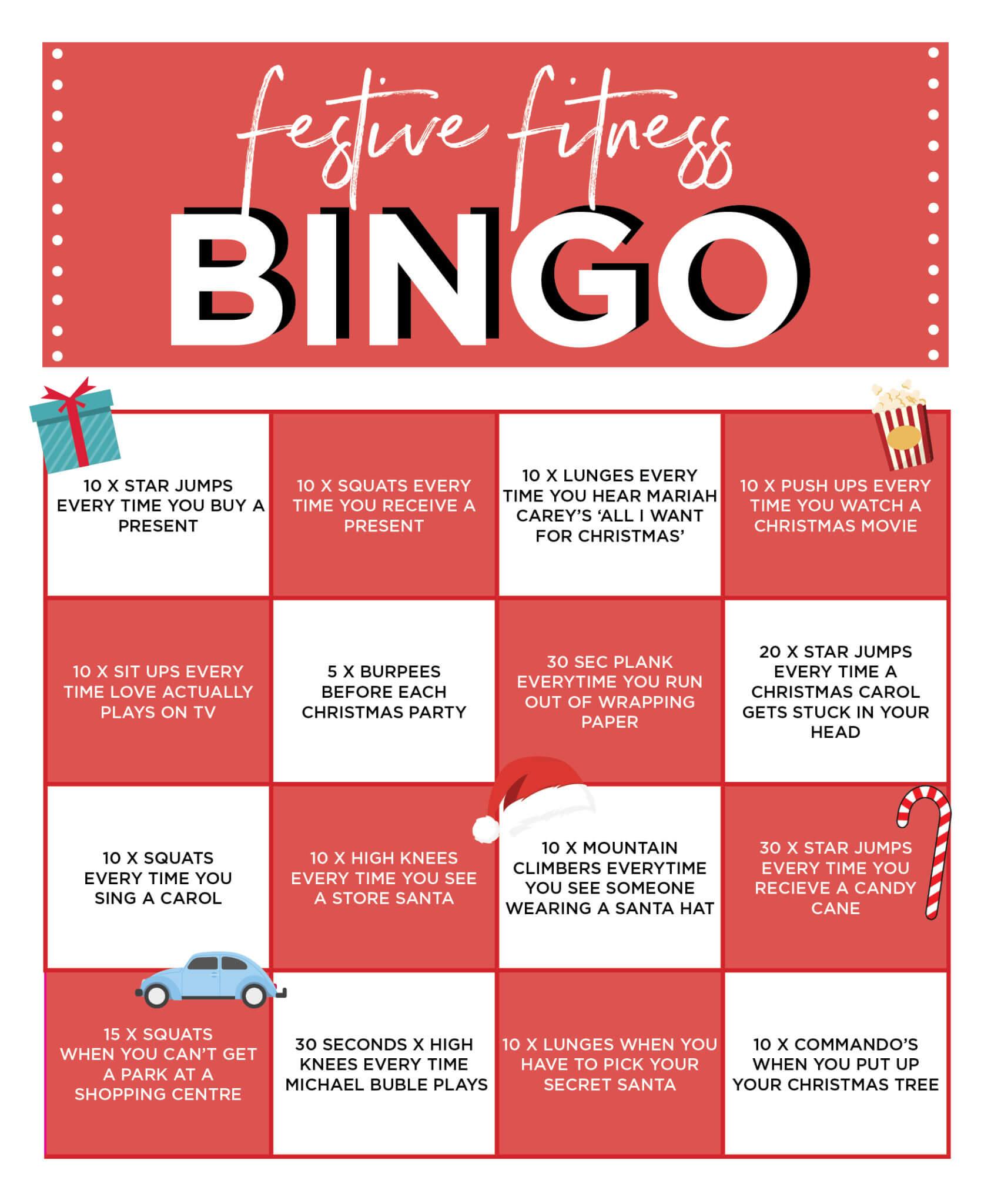 Festive Fitness Bingo!