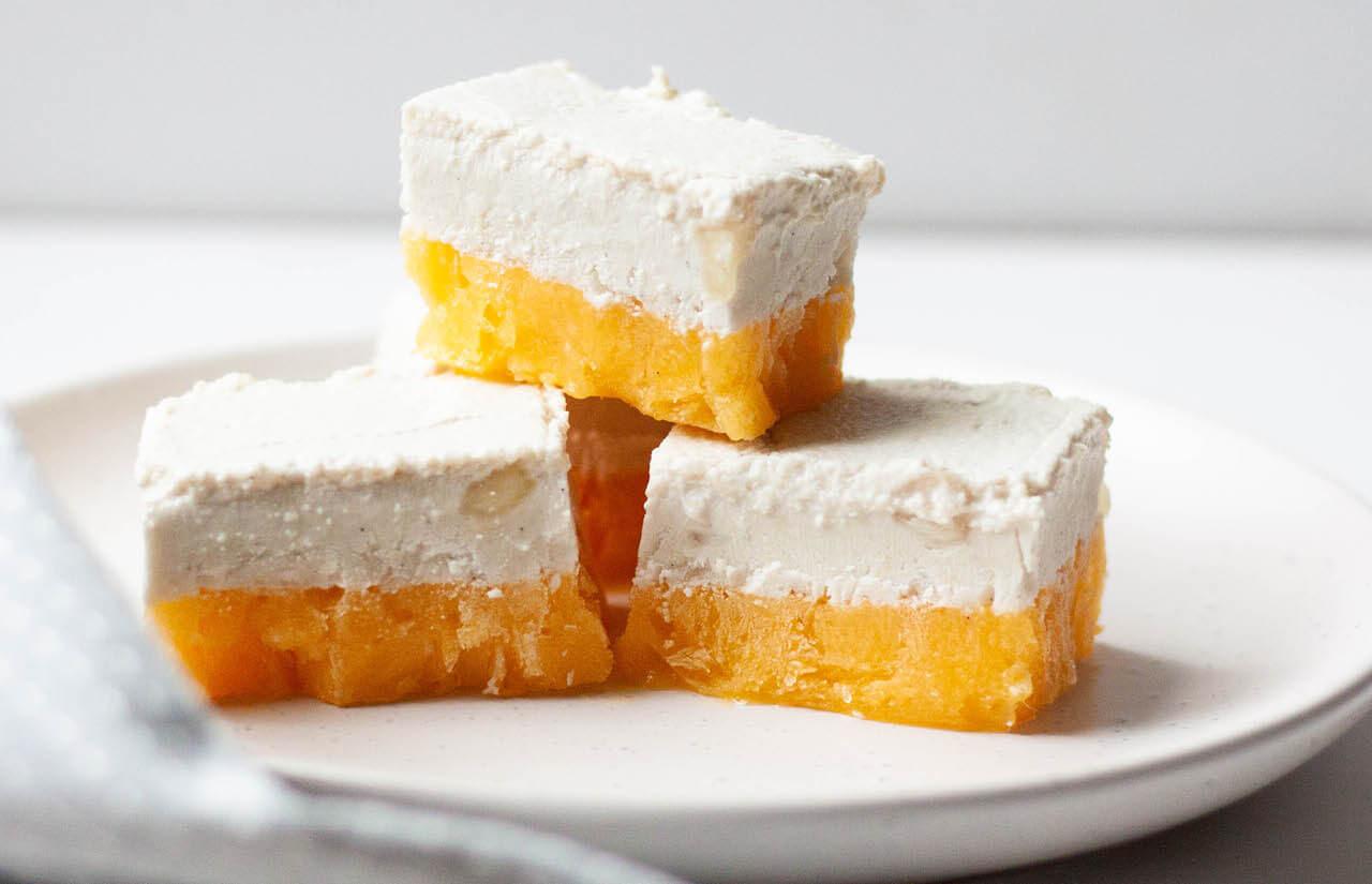 Mango & Macadamia Ice-Cream Bars
