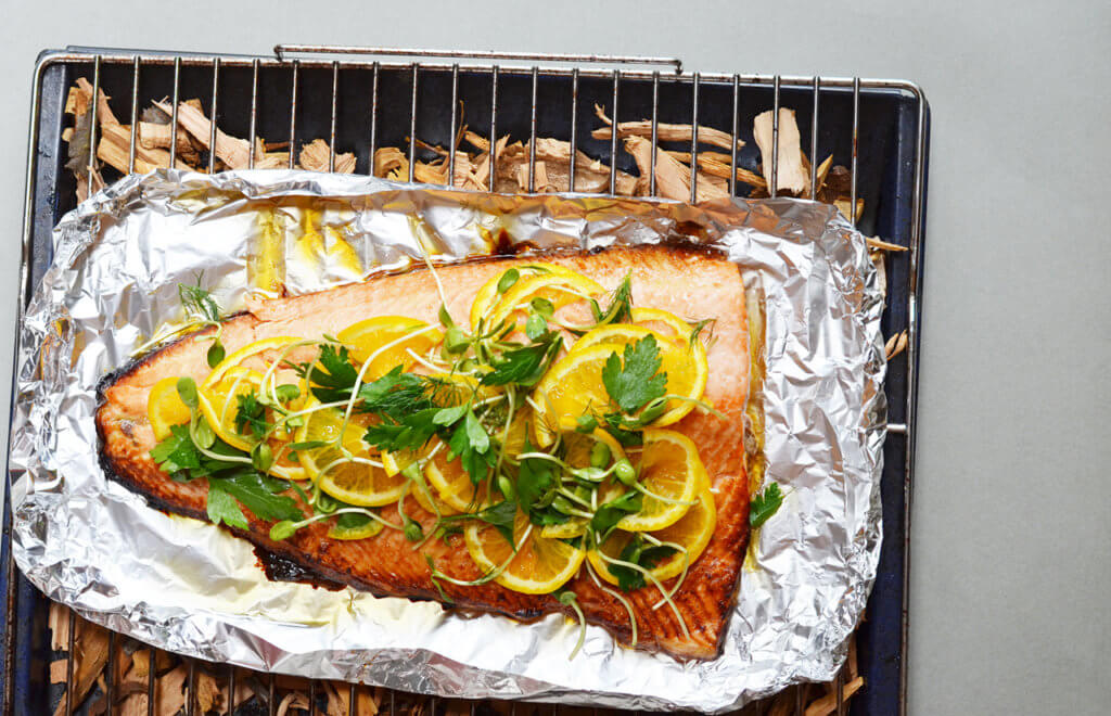 Honey and Citrus Smoked Salmon