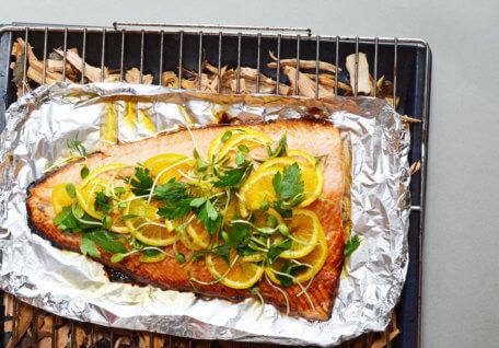 Honey and Citrus Smoked Salmon