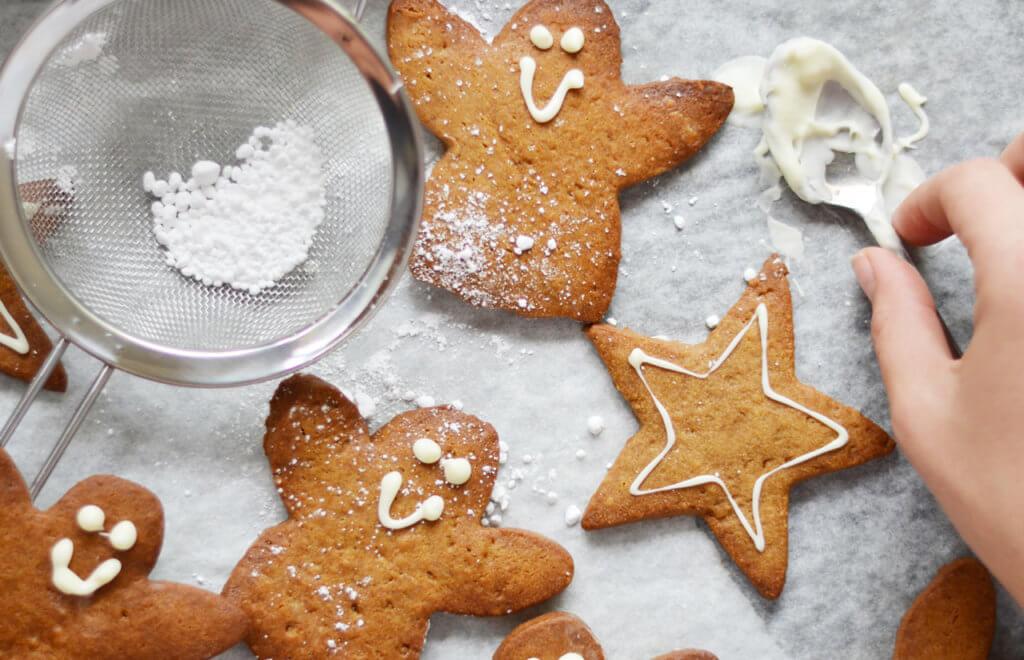 Healthy Gingerbread Angels