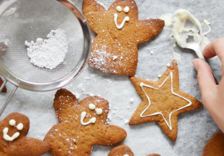 Healthy Gingerbread Angels