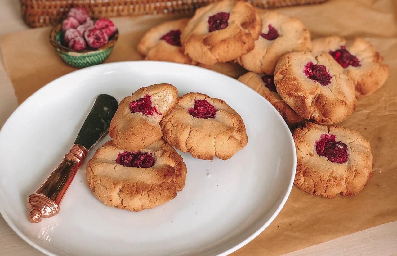 Jam-Drop Protein Cookies