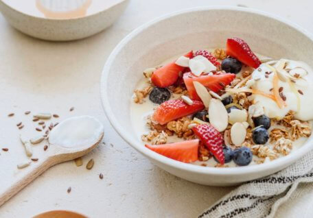 High Protein & Fibre Muesli with Yoghurt and Fruit