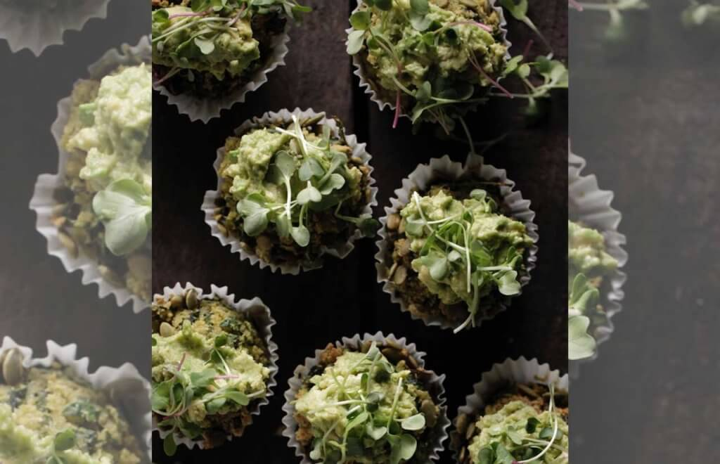 Spinach, Kale & Chia Muffins