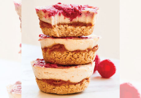 Raw Raspberry Cookie Cheesecake Cups