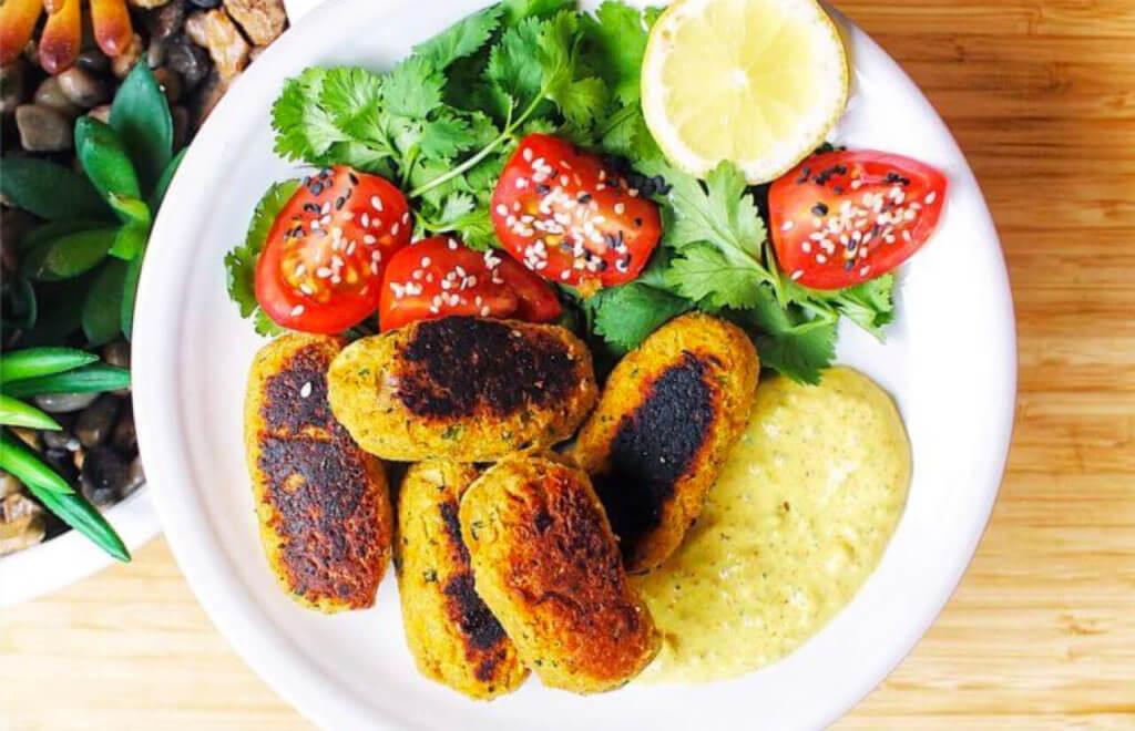 Veggie Croquettes + Turmeric Dip
