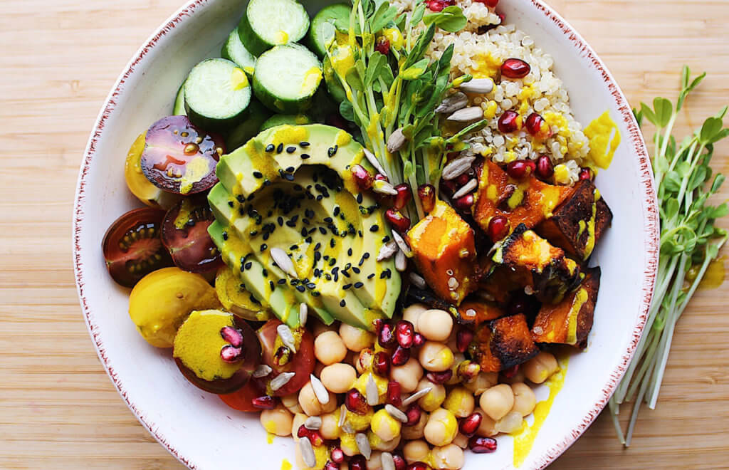 Nourish Bowl with Turmeric Dressing