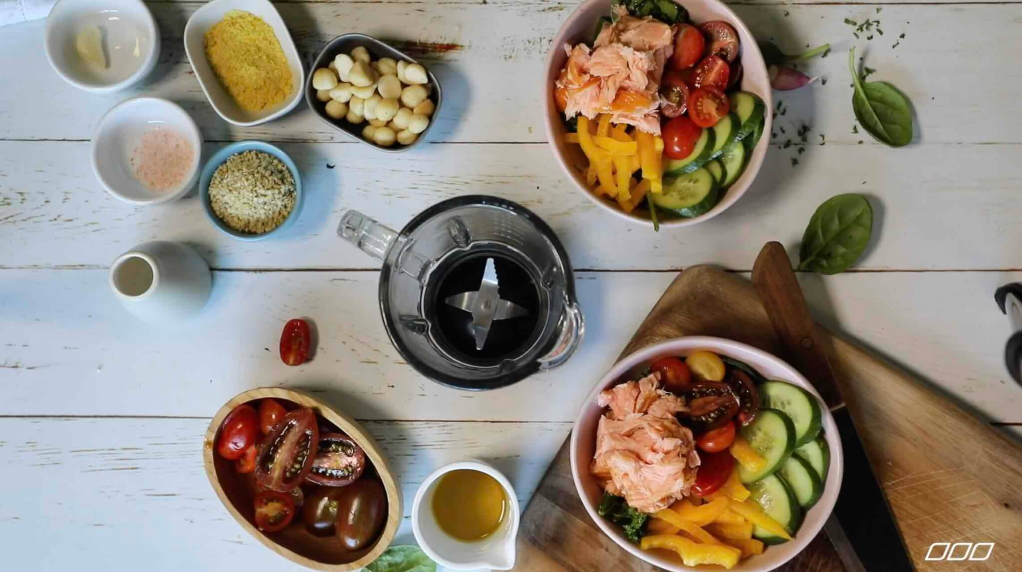 10 Minute Hot Smoked Salmon & Greens Bowl