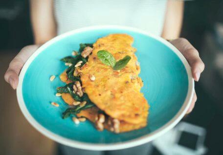 Mushroom, Spinach & Asparagus Omelette
