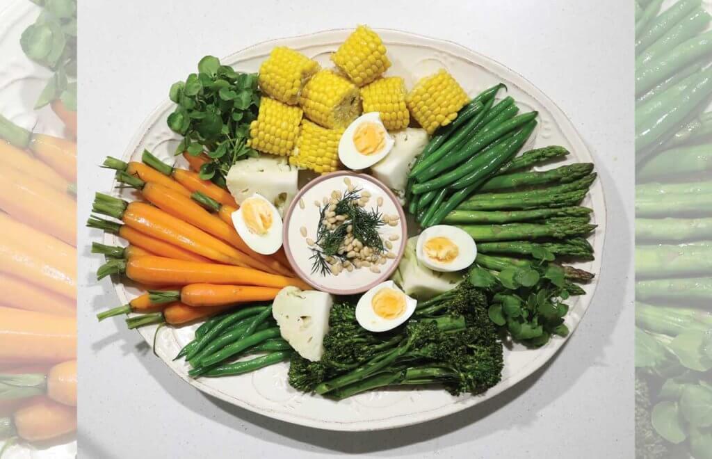 Share Platter with Creamy Lemon Cashew Dip