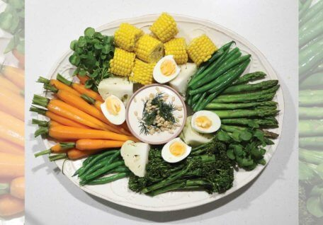 Share Platter with Creamy Lemon Cashew Dip