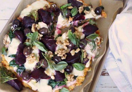 Beetroot & Sweet Potato Pizza