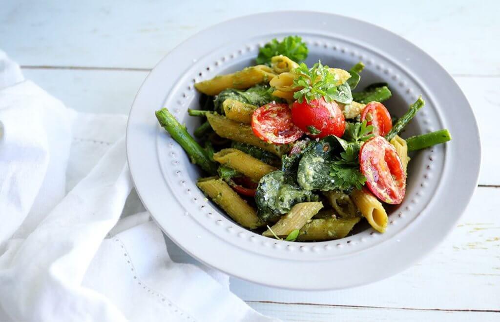 Pesto Penne Pasta (Vegan)