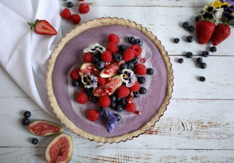 Berry & Cream Tart (vegan friendly)