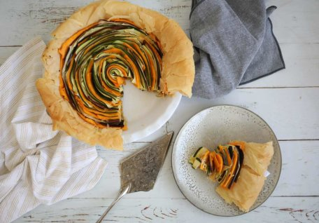 Spiral Vegetable Tart (Vegan Friendly)