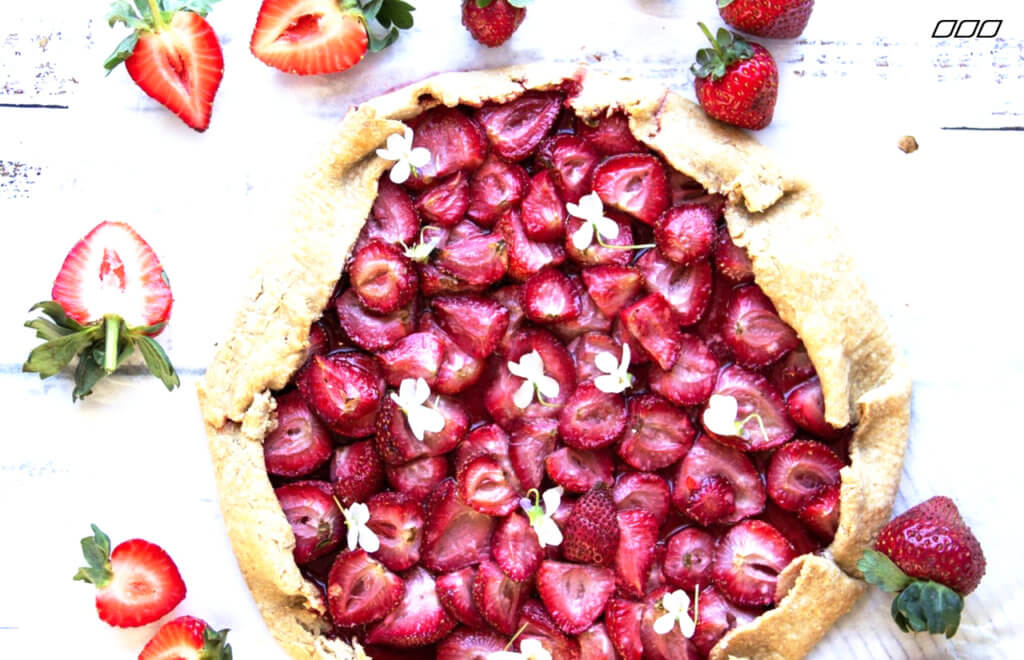 Vegan Rustic Strawberry Galette