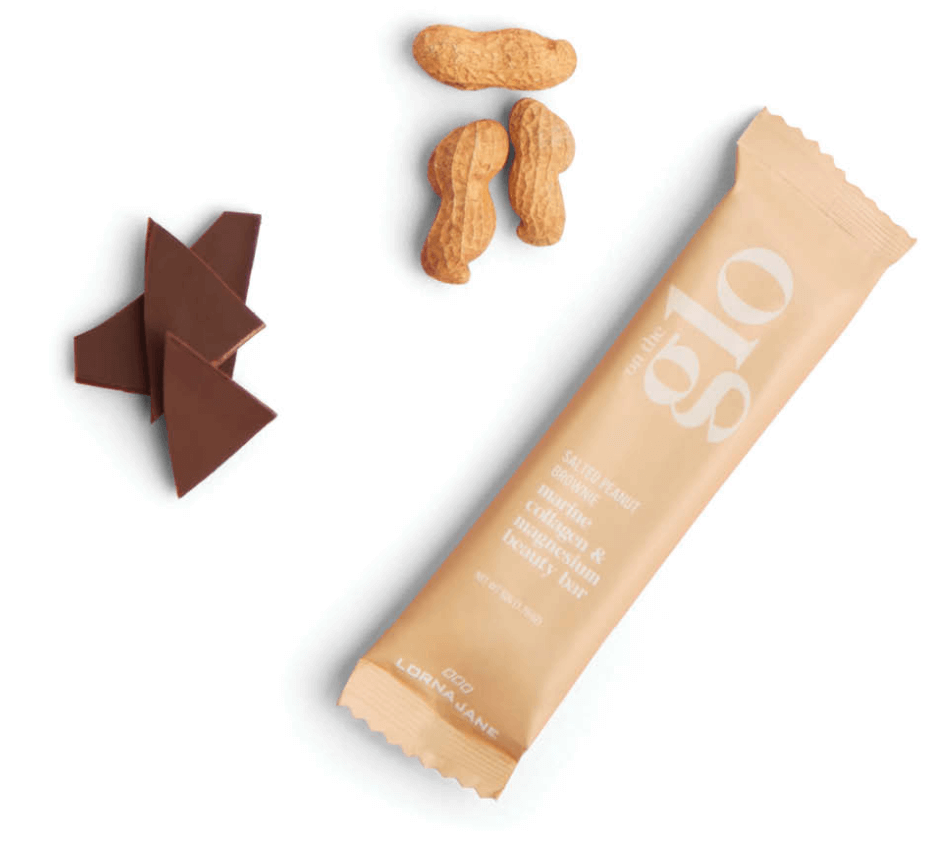 On The Glo Salted Peanut Brownie Beauty Bar